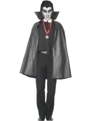Adult Unisex Pvc Vampire Cape Halloween Smiffys Fancy Dress Costume Accessory