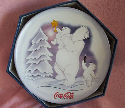 Coca Cola 4 Piece Stoneware Salad/dessert  Plates  With Box Dishwasher Safe