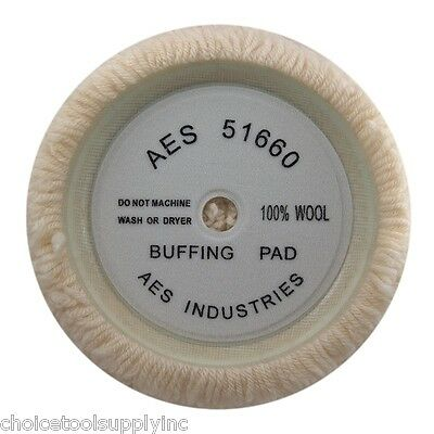 """100% Wool 9"""" HEAVY CUT Buffing Pad Single-Sided (6"""" Hook and Loop)"""