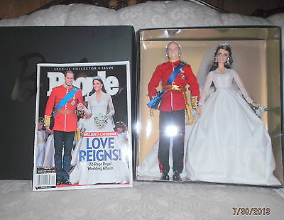 2011 THE ROYAL WEDDING BARBIE & KEN GOLD LABEL WILL & KATE PEOPLE MAG NEW NRFB
