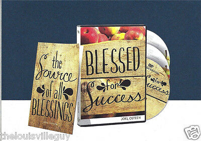 """Blessed for Success"" - Joel Osteen - 2 CDs & 1 DVD - Booklet - Incredible!"
