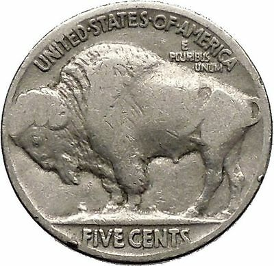 1927 BUFFALO NICKEL 5 Cents of United States of America USA Antique Coin i43697