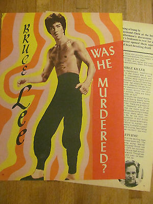 Bruce Lee, Two Page Vintage Clipping