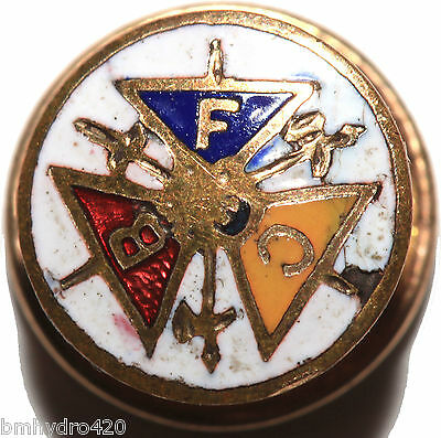Vintage Antique? Knights Of Pythias FCB Screwback Pin Makers Mark Gold Filled?