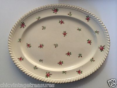 Old English Johnson Bros Roses Platter Antique Vintage Made in England