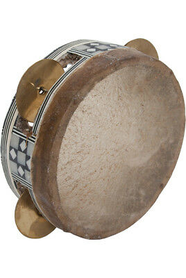 "Mid-East Egyptian Tambourine 4 7/8"" BLEMISHED TAMTS-2"