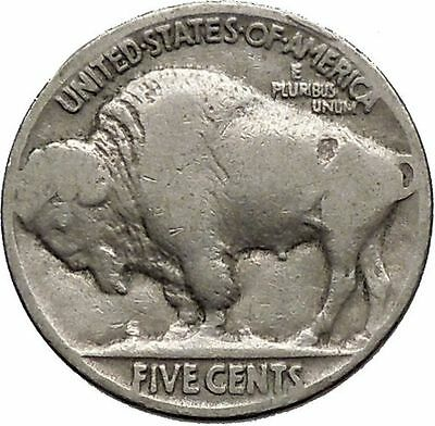 1929 BUFFALO NICKEL 5 Cents of United States of America USA Antique Coin i43721