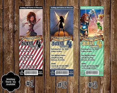 The Pirate Fairy Birthday Party Invitations - 20 Pack