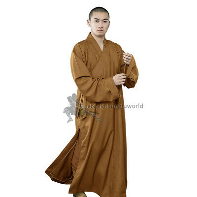 High Quality Thick Cotton Buddhist Monk Dress Shaolin Robe Meditation Suit