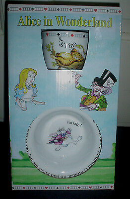 Paul Cardew Alice in Wonderland Baby cup & rimmed dish Timeless Gift Boy Girl