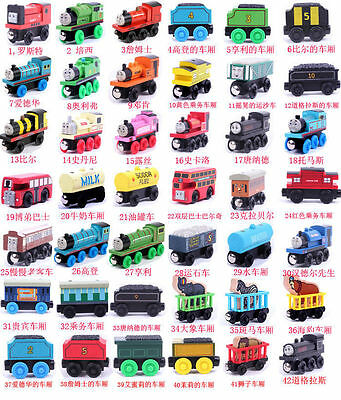 wooden model toy cartoon THOMAS & friends locomotive magnetic train gift 6pc/lot