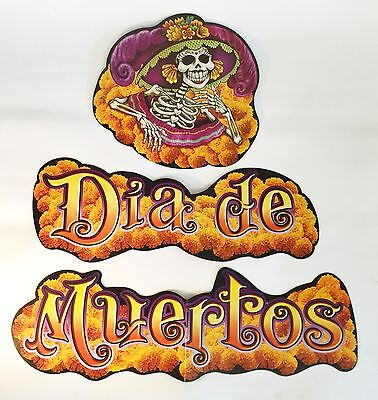 4 Feet Long !    Day Of The Dead Banner !!    Dia De Los Muertos   !