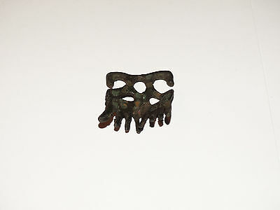 Traditional pagan female zoomorphic Viking pendants comb. ca 800-1000 AD