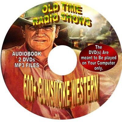 Gunsmoke Westerns-More than 900 Old Time Radio Show Episodes -AUDIOBOOK ON 2 DVD