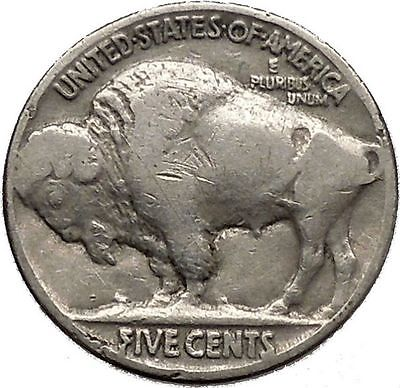 1936 BUFFALO NICKEL 5 Cents of United States of America USA Antique Coin i43807