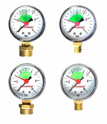 Industrial 50mm Hydraulic Pressure Gauge Manometer  Available 4 & 10 bar