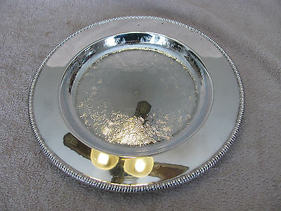 International silver plated serving tray 10 1/4 inch wide