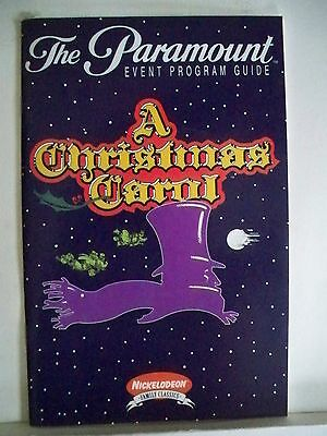 A CHRISTMAS CAROL Playbill WALTER CHARLES / ALAN MENKEN First Year NYC 1994