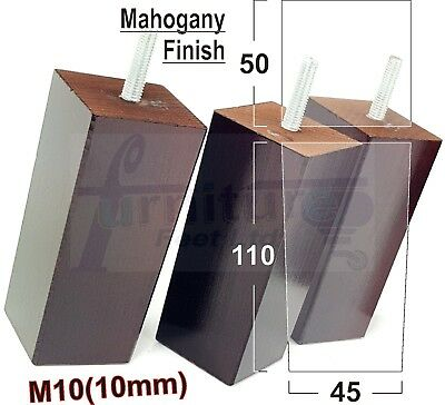 4x WOODEN BLOCK FURNITURE LEGS FEET FOR SOFAS, SETTEES, CHAIRS & FOOTSTOOLS  M10