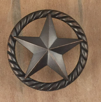 Texas Lone Star Rope Drawer Cabinet Knob Pull Western Oil Rubbed Bronze