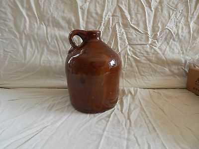 """Pottery Jug, brown, used, great condition, 8"""" tall, 5.5"""" wide, no markings"""