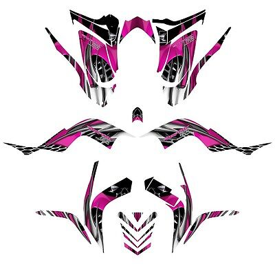 Yamaha Raptor 700 graphics 2006 - 2012 full coverage decal kit NO 4444 hot pink