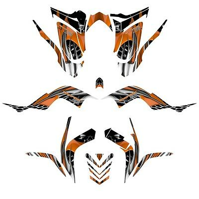 Yamaha Raptor 700 graphics 2006-12 full coverage racing decal kit NO4444 orange