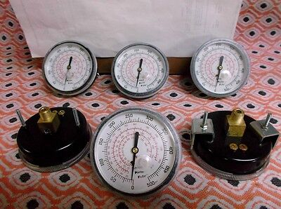 12 Pressure Gauges (new old stock) 500 PSI