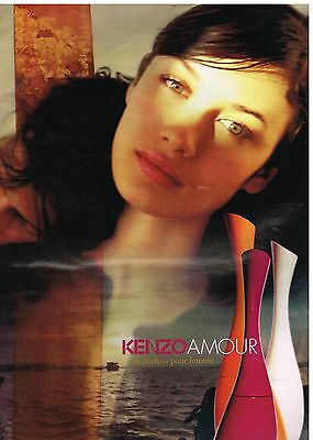 Publicité Advertising 2007 Parfum Kenzo Amour