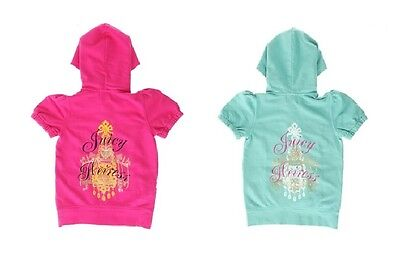 Juicy Couture Girls Short Sleeve Track Top Hoodie Jacket NWT 10 12 14 RRP £110