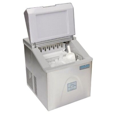 Polar White Counter Top Ice Maker 15kg Output Manual Fill G620 *