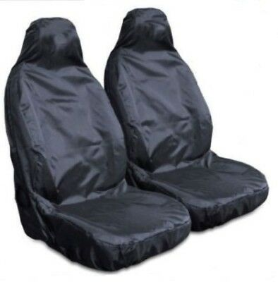 FOR RENAULT CLIO Heavy Duty Black Waterproof Car Seat Covers - 2 x Fronts