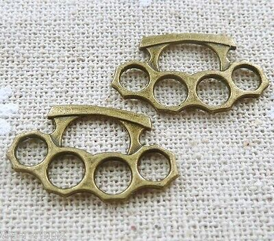 MINI Brass Knuckle Dusters One Pair Jewelry Pendant Charms Buy 2 & get 1 free