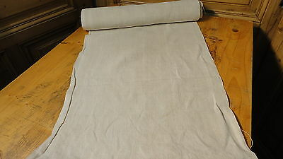 Homespun Linen Hemp/Flax Yardage 8 Yards x 18'' Plain  #5648