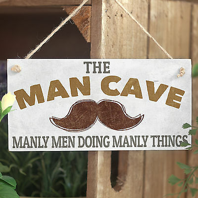 Man Cave Manly Men Doing Manly Things - Cool Funny Moustache Gift Dads Boys Room