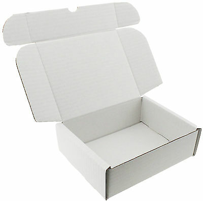 10 x WHITE SHIPPING BOXES GIFT PRESENT WEDDING PRESENTATION PACKET 20 x 15 x 6cm