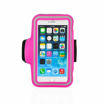 """iPhone 6 4.7"""" Hot Pink Premium Sports Armband Cover Case Running Gym Workout"""