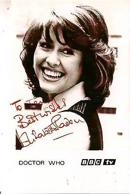 ELISABETH SLADEN DR WHO SARAH JANE SMITH SIGNED AUTOGRAPH 6x4 PRE PRINTED PHOTO