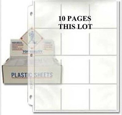 10  BCW  12-Pocket page 2 1/2 x 2 1/2  high clarity Double polished clear viny
