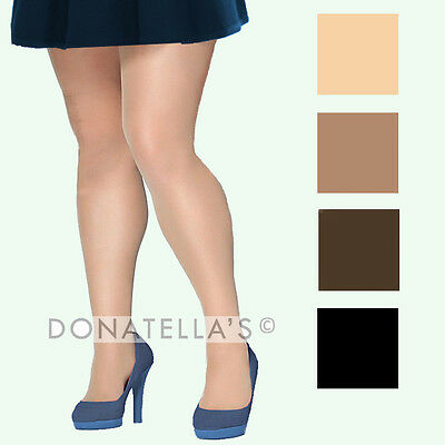 PLUS SIZE SHEER TIGHTS PANTYHOSE 3x 4x 5x 24 26 28 30 32 34 36 petite tall short