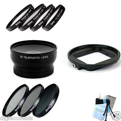 GoPro Hero 3 and Hero 3+ Telephoto Lens w/ 3 Piece Filter & Macro Filters 58MM