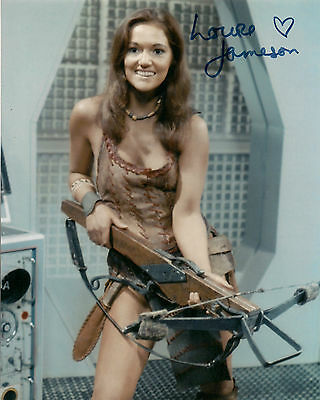 LOUISE JAMESON DR WHO LEELA SIGNED AUTOGRAPH 6x4 PRE PRINTED PHOTO TOM BAKER ERA