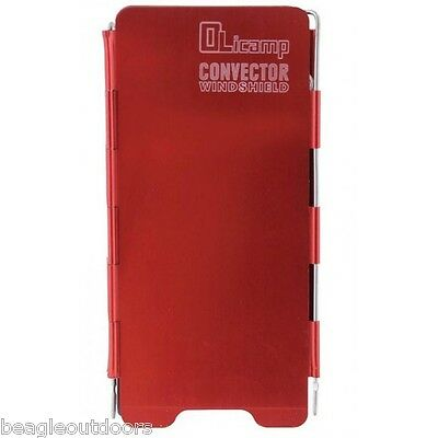 NEW Olicamp Convector Windshield Red Aluminum Windscreen Backpacking Camping