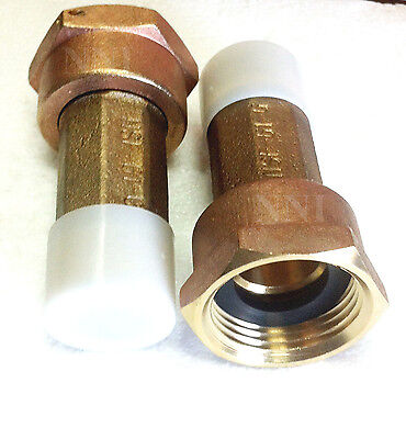 "3/4"" Lead Free Brass Water Meter coupling Set of 2 for 5/8 x 3/4"