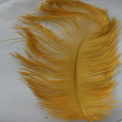 100pcs New Real,natural 10-12 inch Ostrich Feathers orange color decorations
