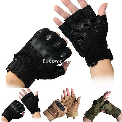 New Mens Outdoor Sports Sport Half Finger Gloves Cycling Bicycle Bike Antiskid