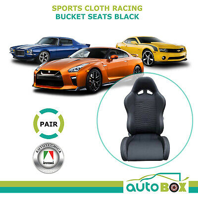 Autotecnica Sports Bucket Seats Pair (2) ADR Approved Black 12mth Warranty
