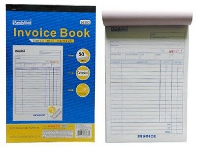 INVOICE Receipt Record BOOK 2-Part 50 Sets Numbered Original Duplicate w/Carbon