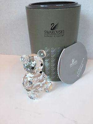 Swarovski Crystal Large Bear - Euc W/box & Coa - Ret. In 2004