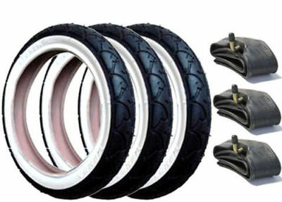 3x PHIL AND TEDS SPORT 12.5 x 1.75 x 2 1/4 INCH TYRES AND INNER TUBES FOR WHEELS